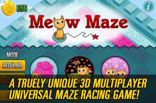 ニャー迷路無料ゲーム - 子供のための楽しい猫のレースゲーム Meow Maze Free Game 3d Live Racingのおすすめ画像1
