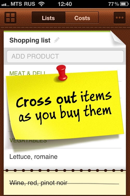 Grocery Mate Lite – Easy-to-Use Shopping List and Expense Tracker