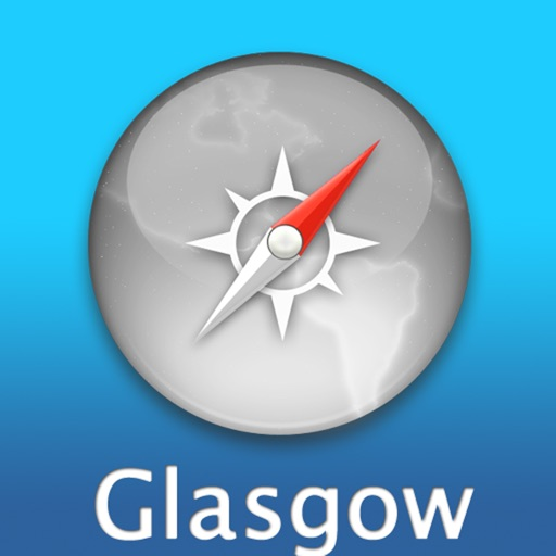 Glasgow Travel Map (Scotland)