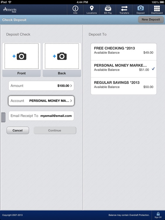 Ameris Bank Personal for iPad screenshot-3