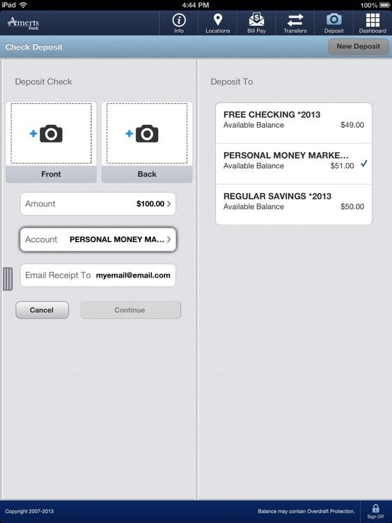 Ameris Bank Personal Mobile for iPad screenshot-3