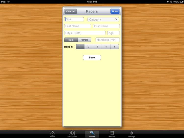 PocketTimer Pro for iPad screenshot-3