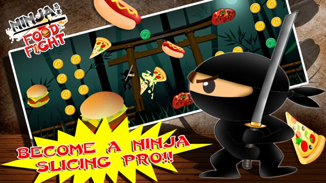 Ninja Food Fight Deluxe   A FREE Jump Ing, Hack, And Slash Game On The App  Store