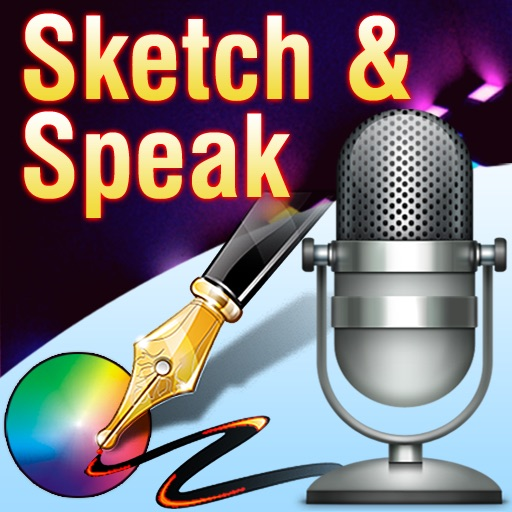 Sketch & Speak - Voice Record Meeting Notes & Draw or Picture Sign Autograph