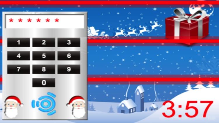 Santa Claus Unlocking Christmas Gifts