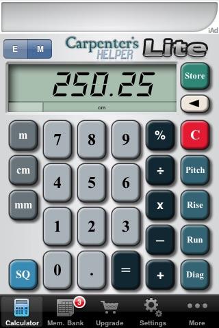 Carpenter's Helper Lite - Free Construction Calculator screenshot-3