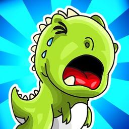 A Baby Dinosaur Race FREE - Run, Jump & Roar!