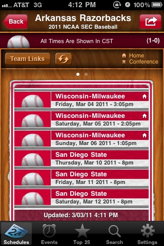 My Pocket Schedules Lite - Youth, College, Pro Teams screenshot-3