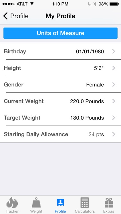 Pts. Calculator With Weight and Exercise Tracker for Weight Loss - Fast Food and Calorie Watchers Diary App by Awesomeappscenter