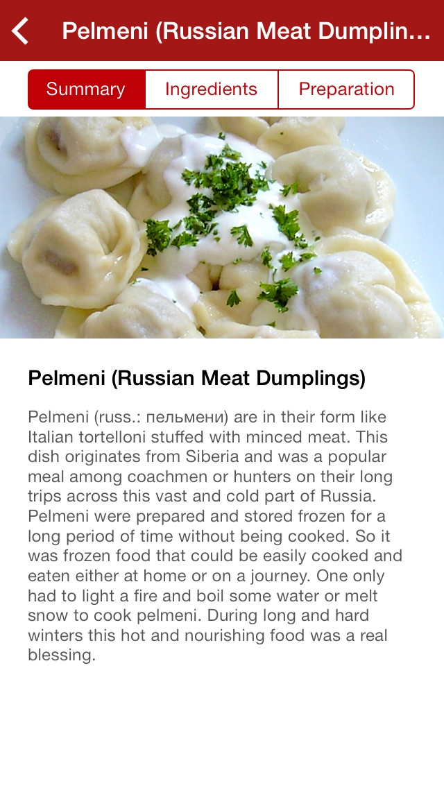 Screenshot for Russian Food Recipes in Azerbaijan App Store