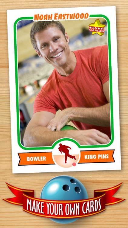 Bowling Card Maker - Make Your Own Custom Bowling Cards with Starr Cards