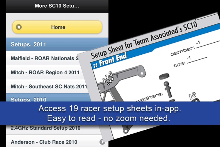 SC10 Short Course Setups screenshot-2