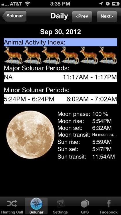 Hunt Pro - Calls and Solunar Calendar screenshot-3