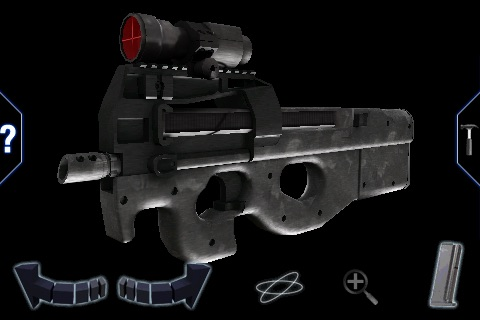 FN P90 3D lite - GunClub Edition screenshot-2