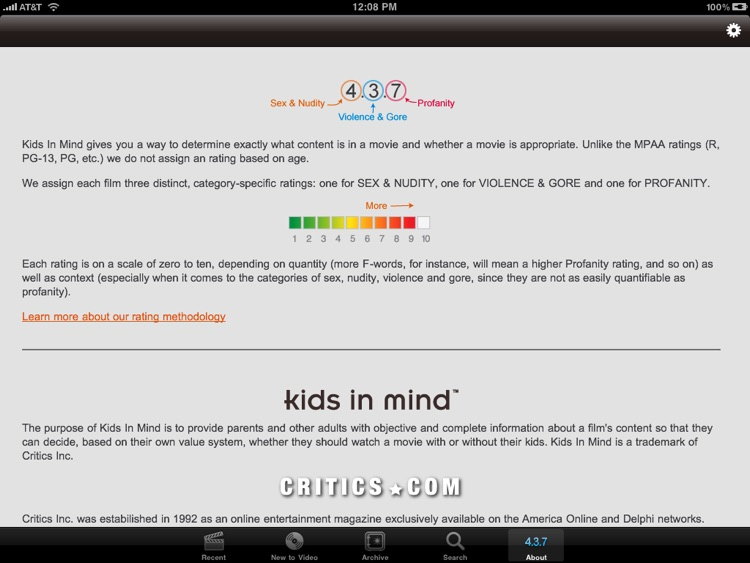 Kids In Mind for iPad - Movie Reviews for Families screenshot-3