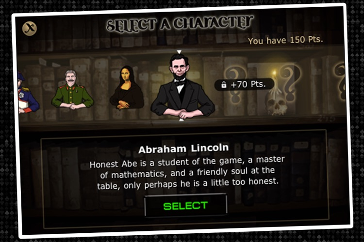 Imagine Poker ~ a Texas Hold'em series against colorful characters from world history! screenshot-4