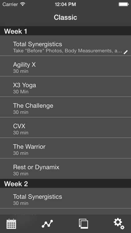 Tracker for 30MinX Workout