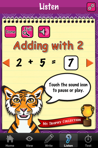 Addition Fun -- Let's add some numbers screenshot three