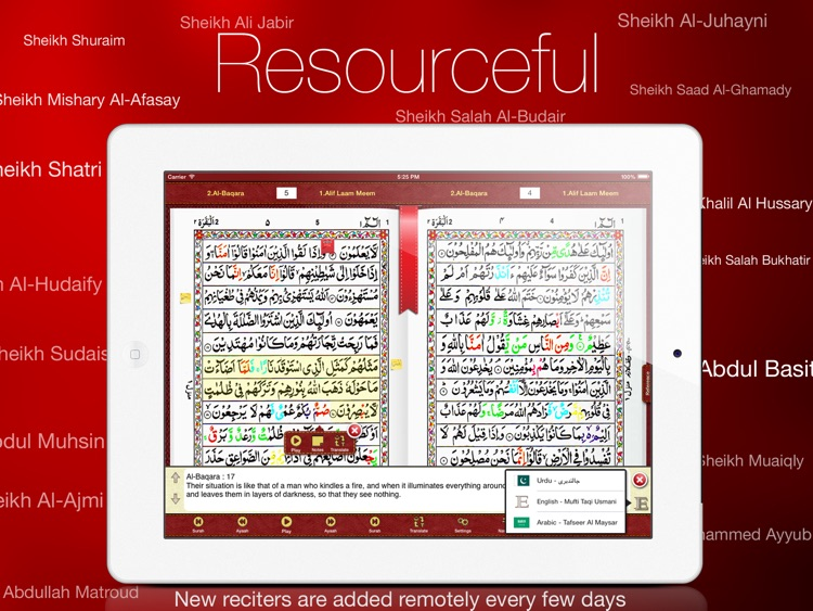 Tajweed Quran in Urdu/Persian Script With Tajweed Guide for iPad