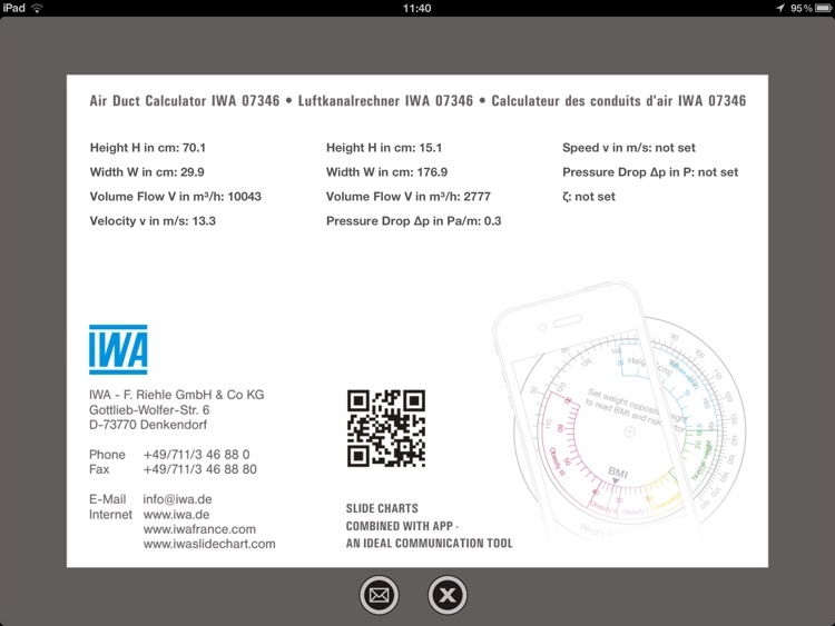 Air Duct Calculator IWA 42 006 screenshot-3