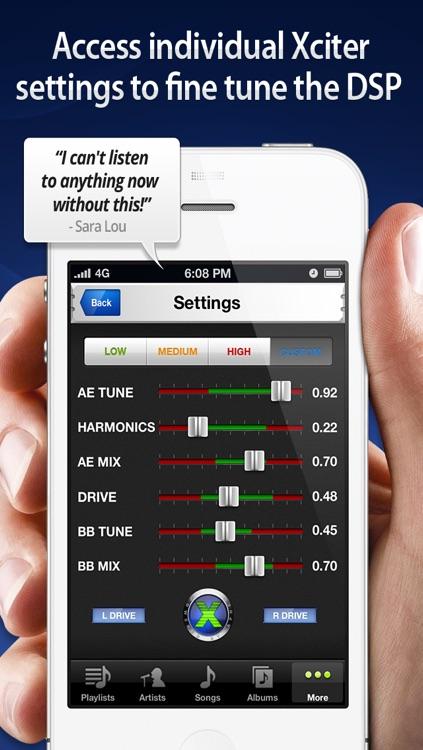 Audio Xciter - DSP Enhanced Music Player screenshot-3