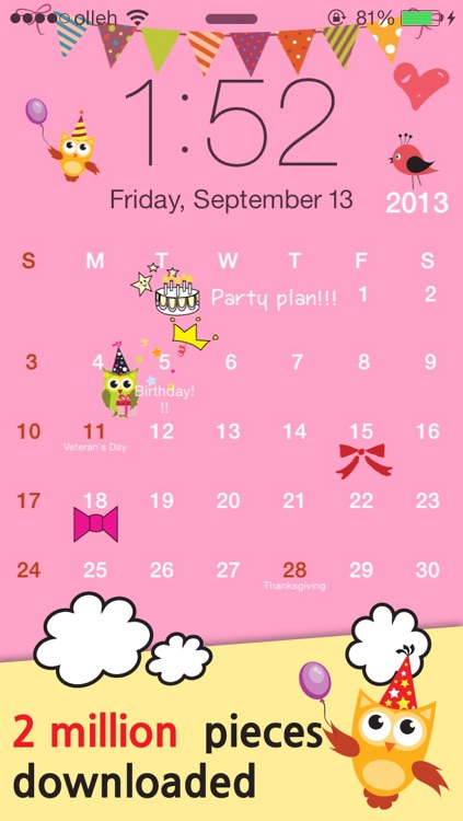 My Wallpaper Calendar screenshot-4