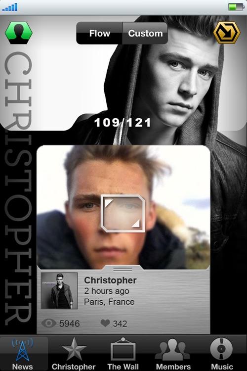 Christopher Mobile Backstage
