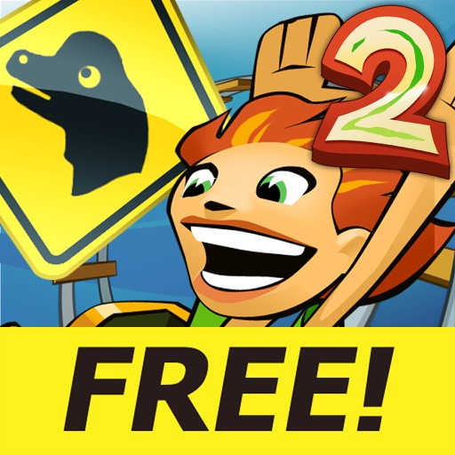 Jurassic 3D Rollercoaster Rush 2 FREE icon