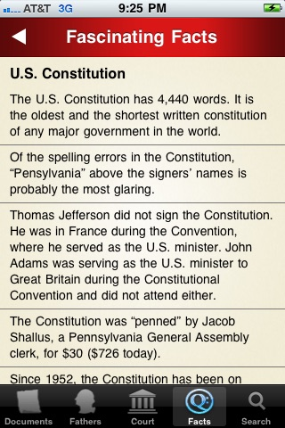 U.S. Constitution and Facts screenshot-4