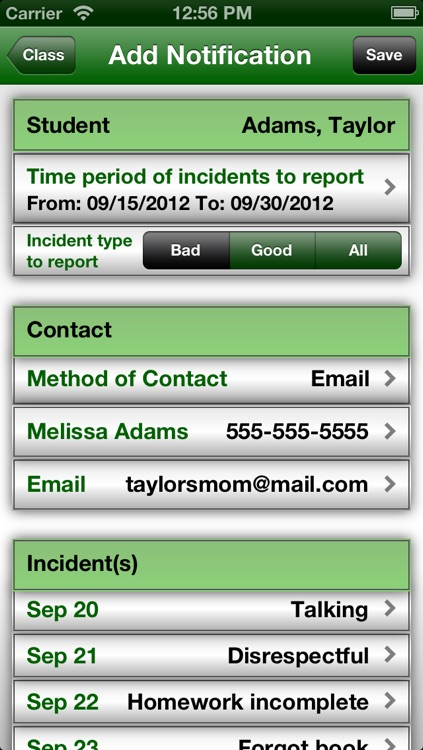 Easy Behavior Tracker for Teachers screenshot-3