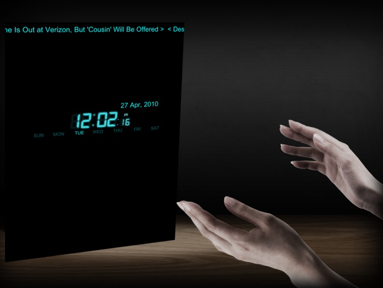 Clap Neon Lamp w/clock for iPad