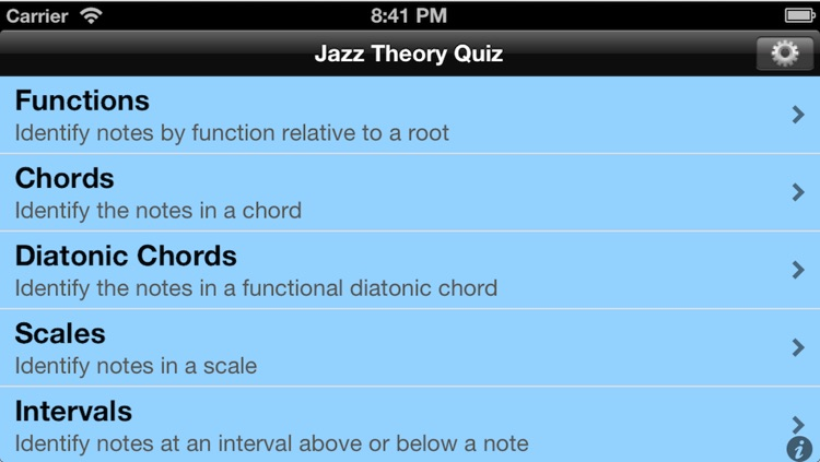 Jazz Theory Quiz screenshot-0