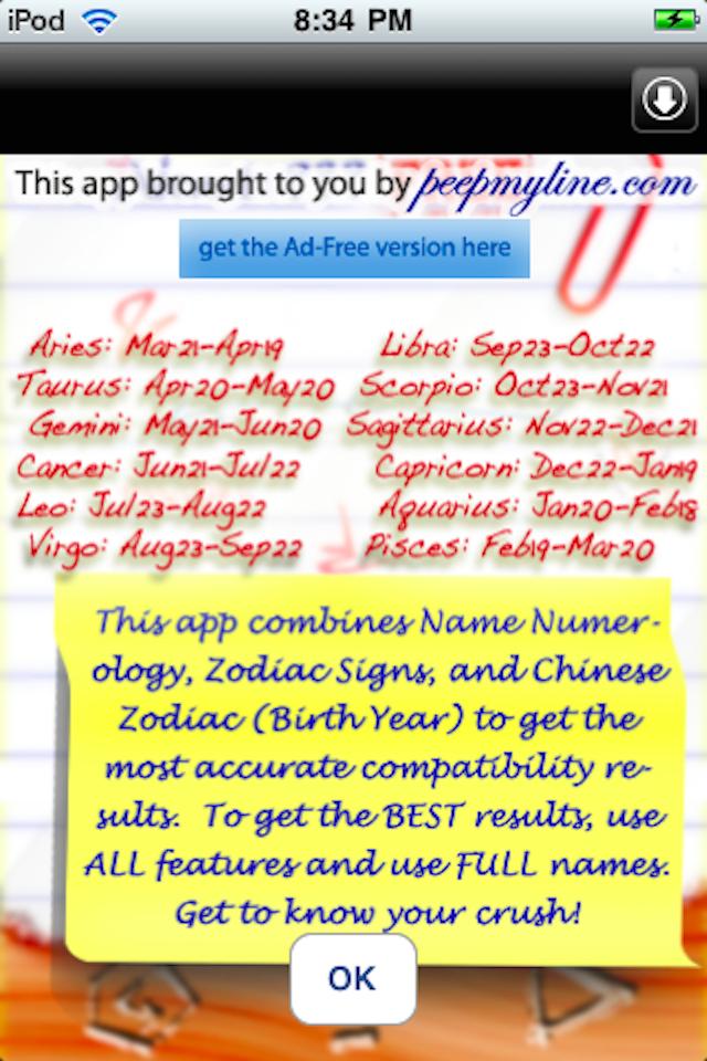 iHeart Love Compatibility Match Calculator Free: Classic Version - Test Your Crush! Screenshot