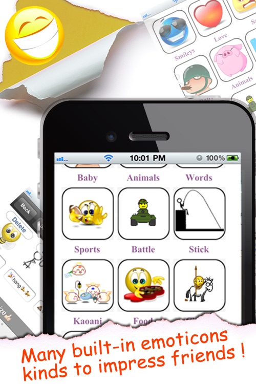Animated Emoticons™ for MMS Text Message, Email!!!(FREE) screenshot-1