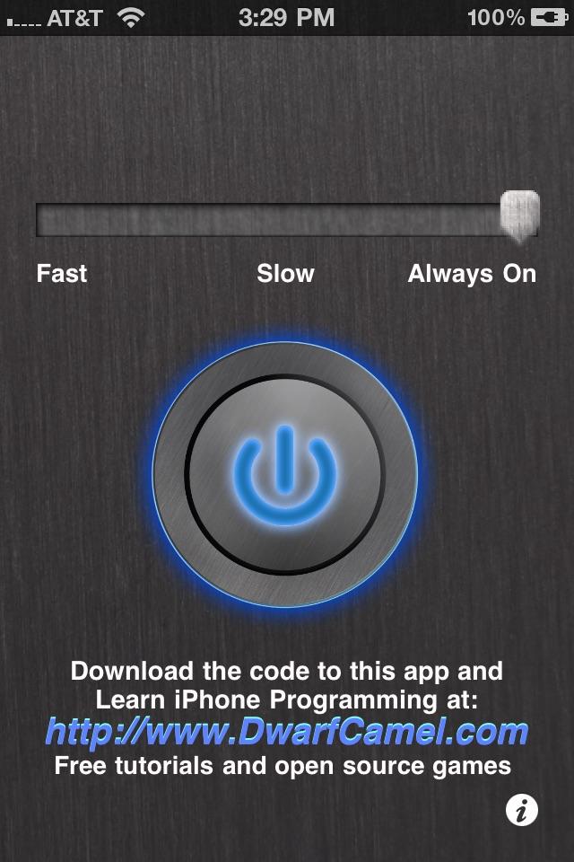 iStrobe - Flash & Strobe Light for iPhone 4 Screenshot