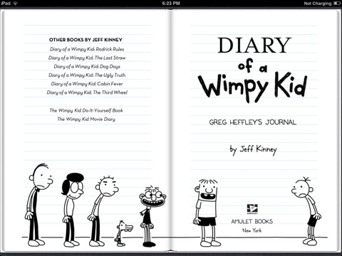 Diary of a wimpy kid by jeff kinney on ibooks screenshot 1 solutioingenieria Gallery