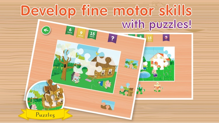 Kids Apps ∙ The Three Little Piggies and Big Bad Wolf. screenshot-3