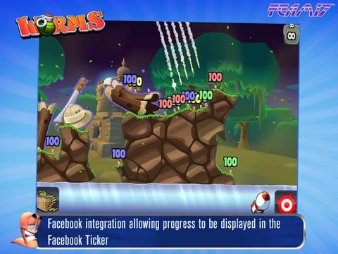 Worms HD на iPad
