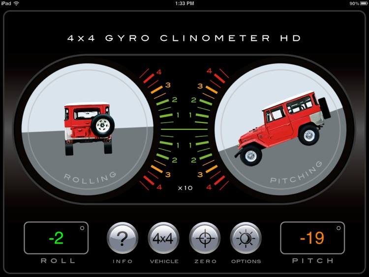 4x4 Gyroscope Clinometer HD