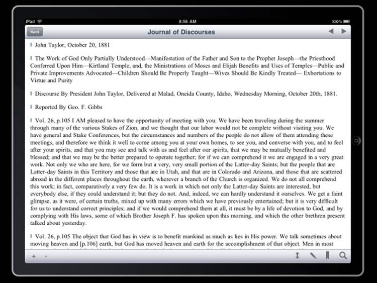 LDS Journal of Discourses for iPad screenshot-4