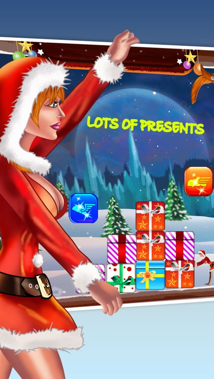 Santa Claus Christmas Girl Lite - The Miss under a Rain of Xmas Gifts - Free version