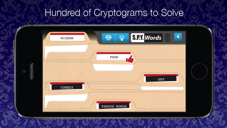 Spy Words - Decode and Decipher Cryptograms