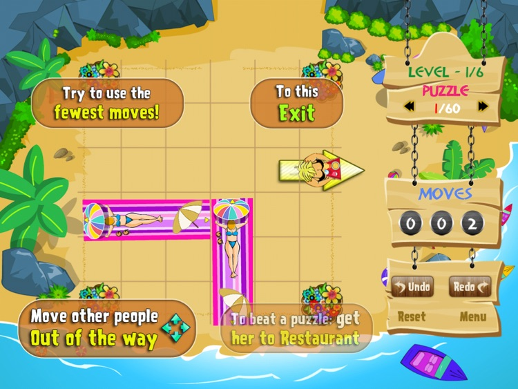 Get me out of the beach HD FREE , the hot summer traffic and puzzle game screenshot-3