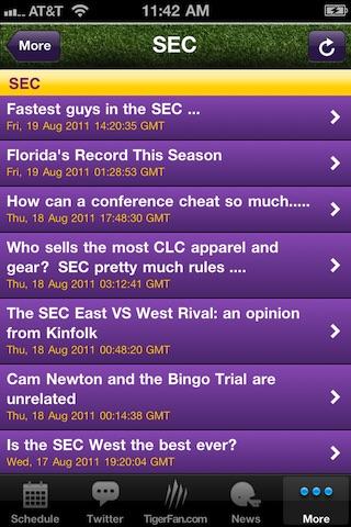 GeauxTigers!  LSU Football! screenshot-3