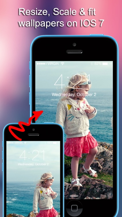 Customize wallpaper -  Add Effects & Create Wallpapers, download free wallpapers HD for iOS 7 home screen, lock screen