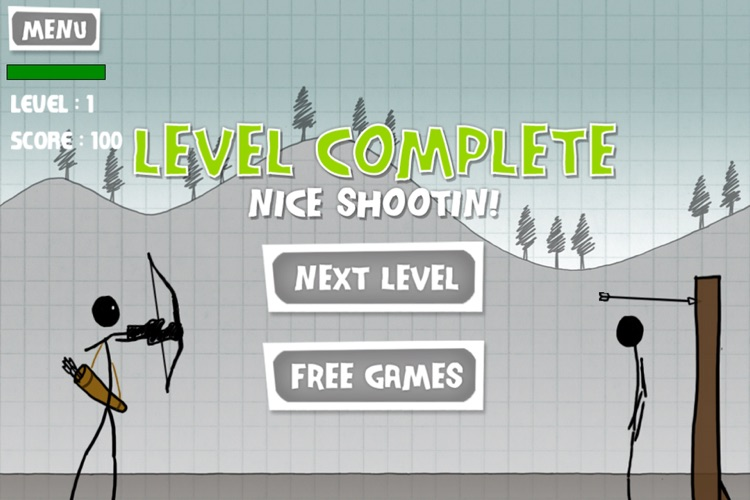 A Stickman Apple Shooting Showdown - Pro screenshot-3