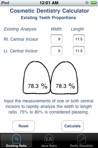 Cosmetic Dentistry Calculator