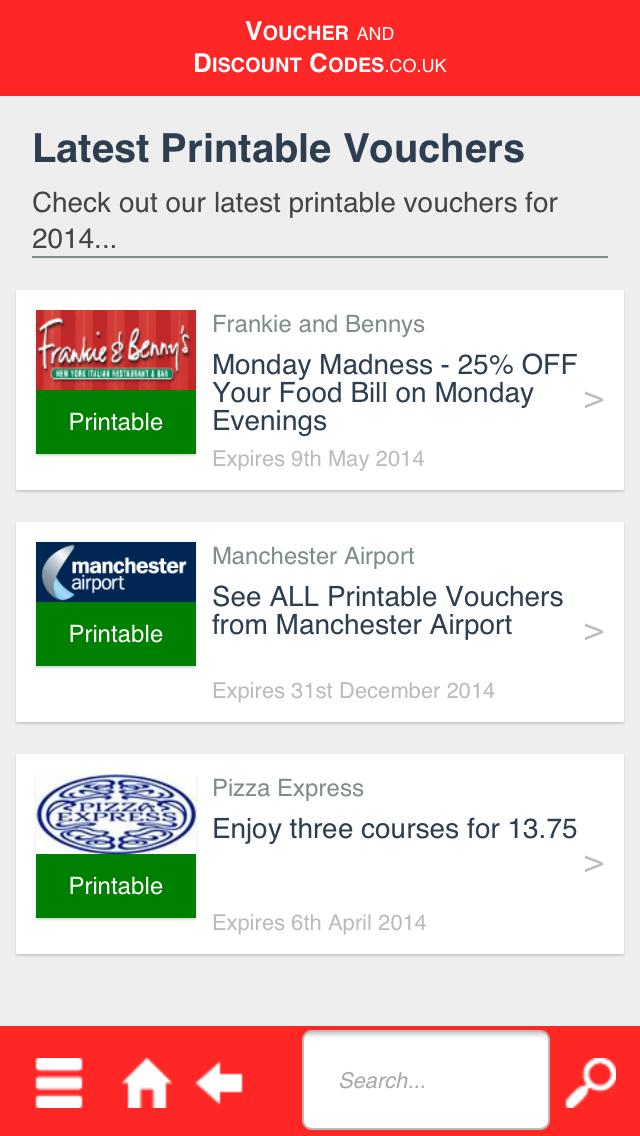 Voucher and Discount Codes screenshot four