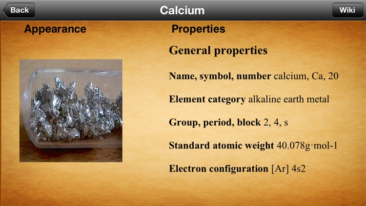 iElements - Periodic Table of The Chemical Elements