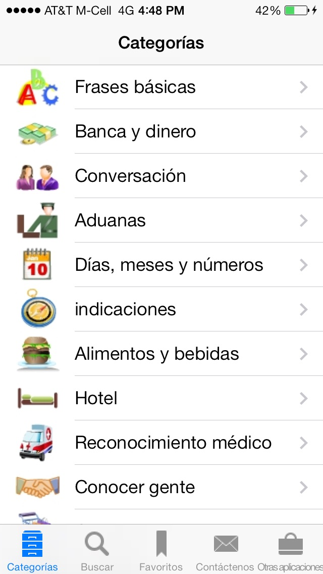 Spanish To English Translation Phrasebook review screenshots
